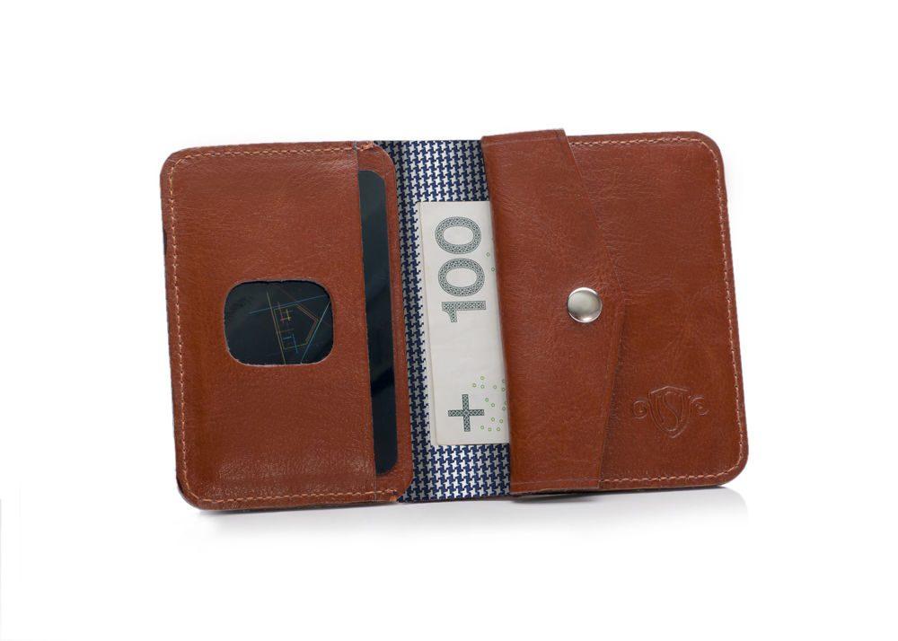 Elegantní kožená pánská peněženka značky SOLIER SW16A - BROWN