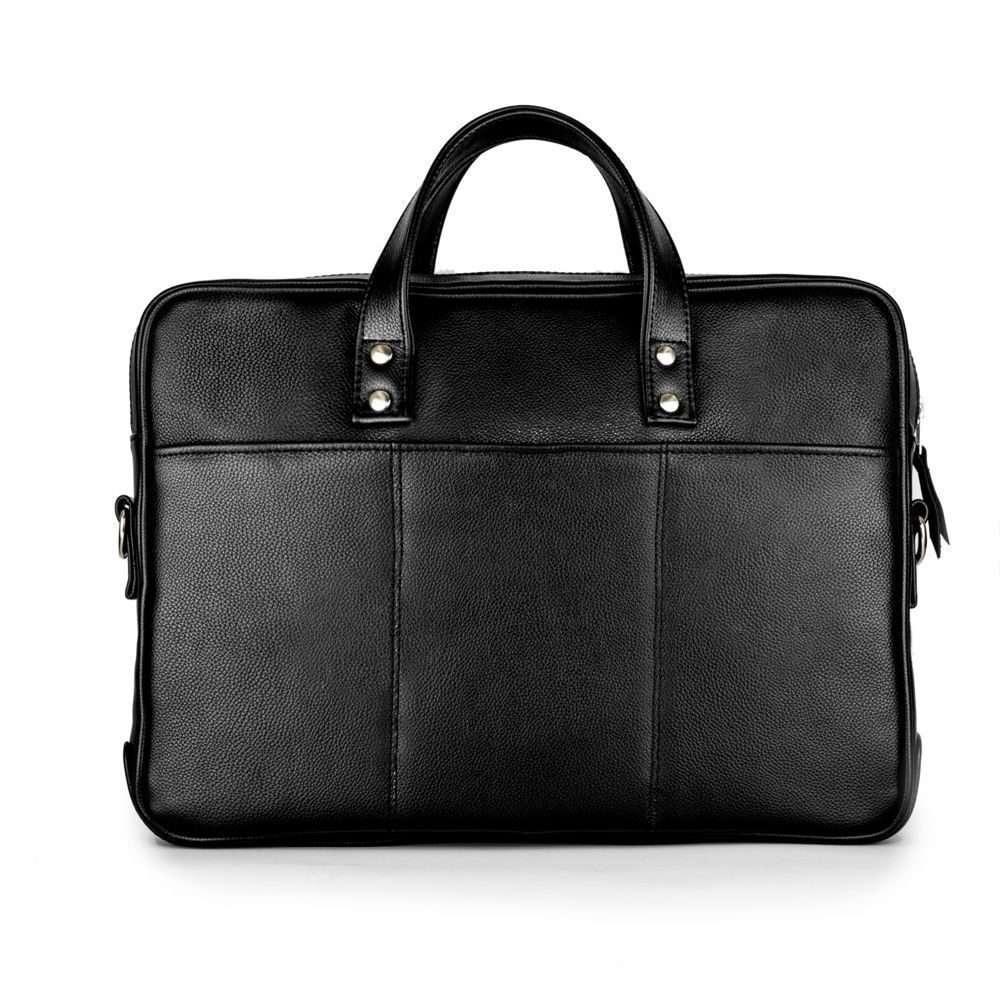 Solier kožená taška na notebook SL04 black (černá)