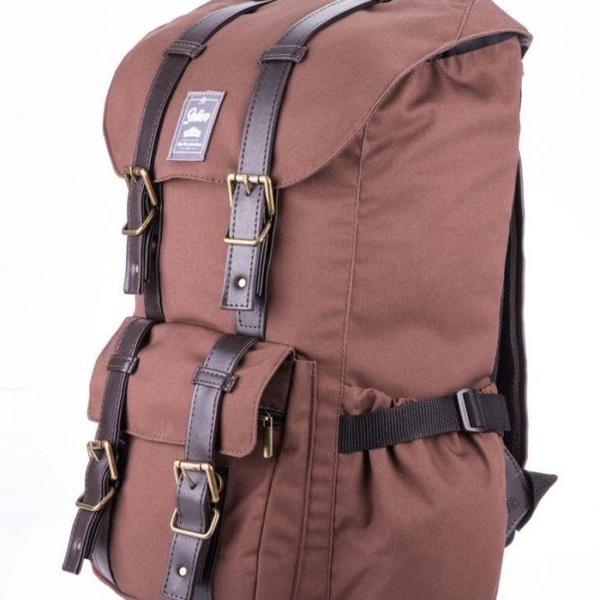Solier vodotěsný sportovní batoh SV01 hnědý (denver brown)