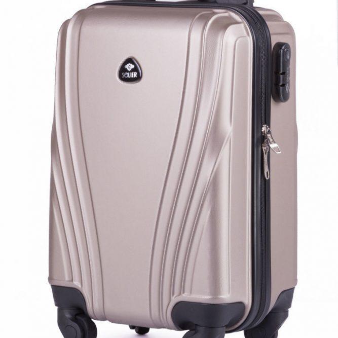 Solier cestovní kufr STL319 ABS CHAMPAGNE S