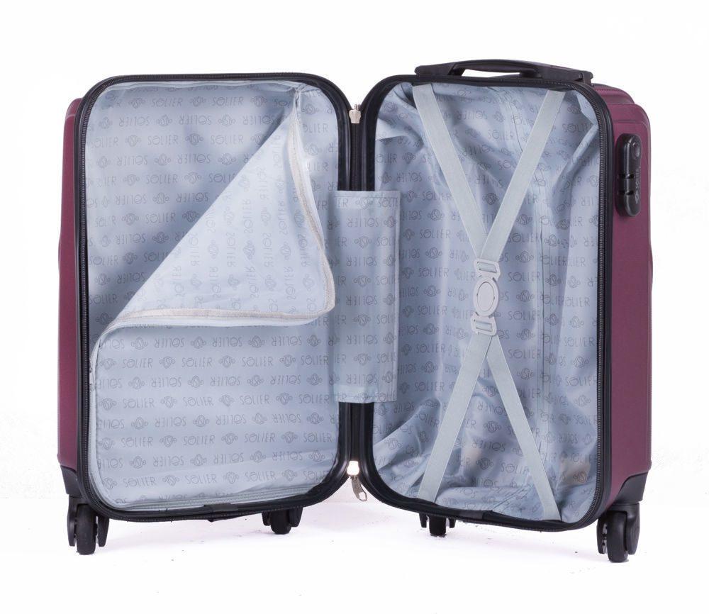 Solier cestovní kufr STL319 ABS BURGUNDY S