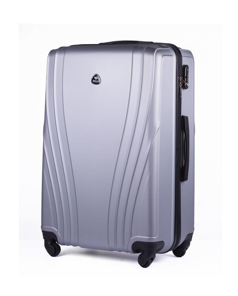 Cestovní kufr STL319 ABS SILVER M