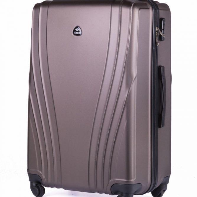 Cestovní kufr STL319 ABS BROWN L
