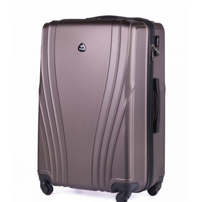 Cestovní kufr STL319 ABS BROWN M