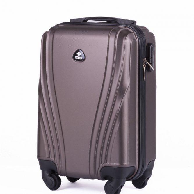 Solier cestovní kufr STL319 ABS BROWN S