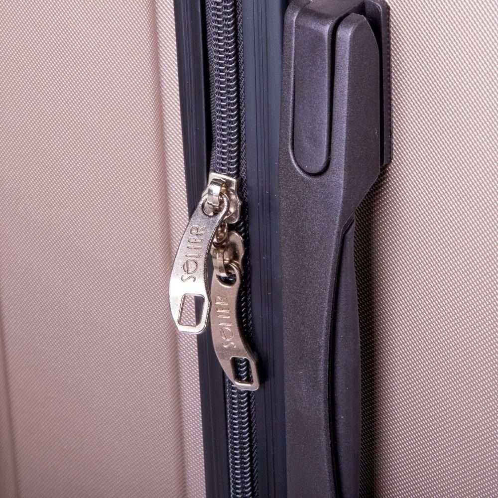 Cestovní kufr STL2011 ABS COFFEE L