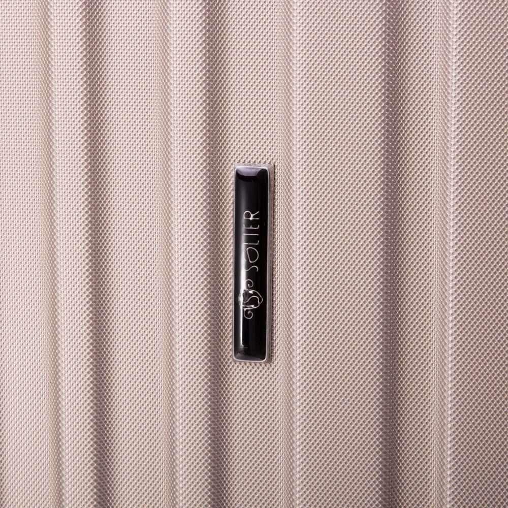 Cestovní kufr STL2011 ABS DARK GREY M