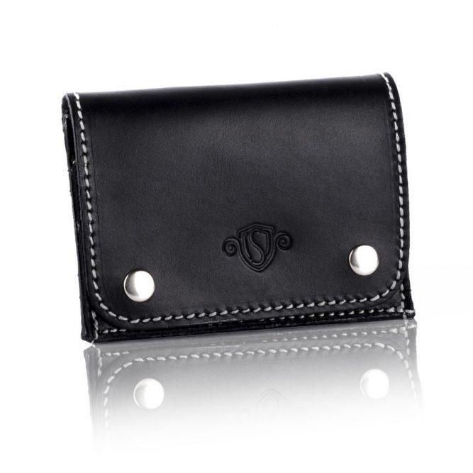 Elegantní kožená pánská peněženka značky SOLIER SW18 - BLACK VINTAGE