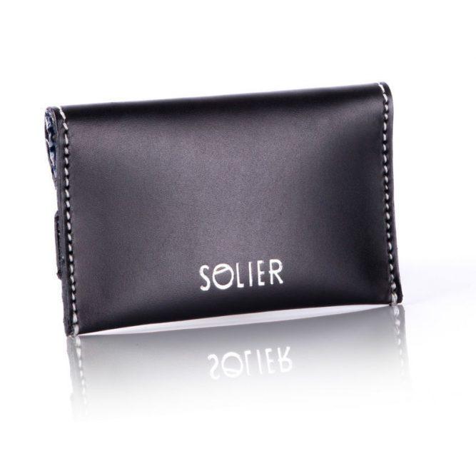 Moderní kožená pánská peněženka značky SOLIER SW19 - BLACK VINTAGE