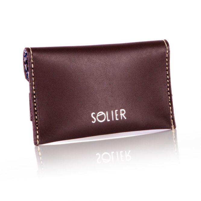 Moderní kožená pánská peněženka značky SOLIER SW19 - BROWN VINTAGE