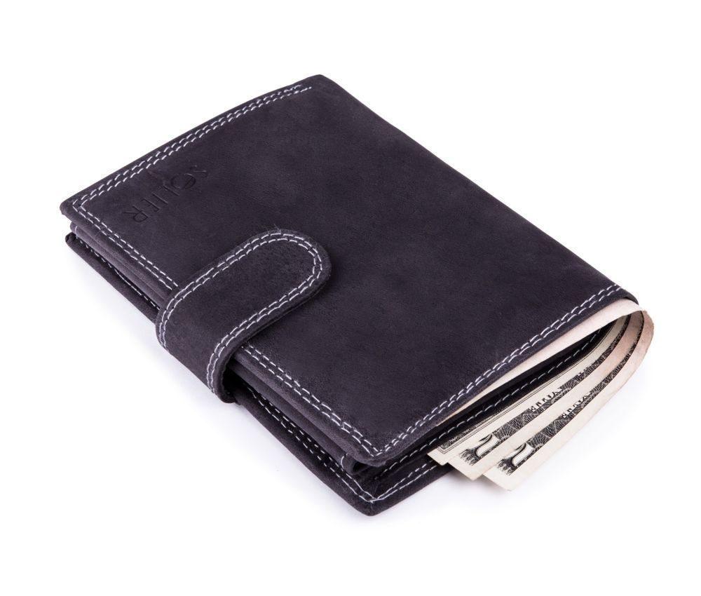 Elegantní kožená pánská peněženka značky SOLIER SW23 - BLACK