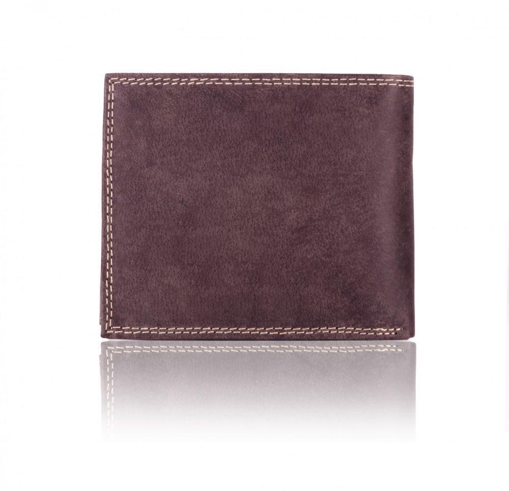 Elegantní kožená pánská peněženka značky SOLIER SW24 - BROWN