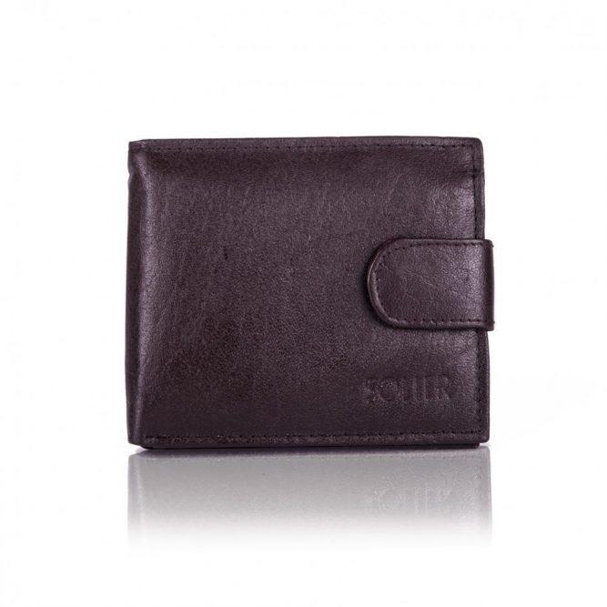 Elegantní kožená pánská peněženka značky SOLIER SW26 - BROWN