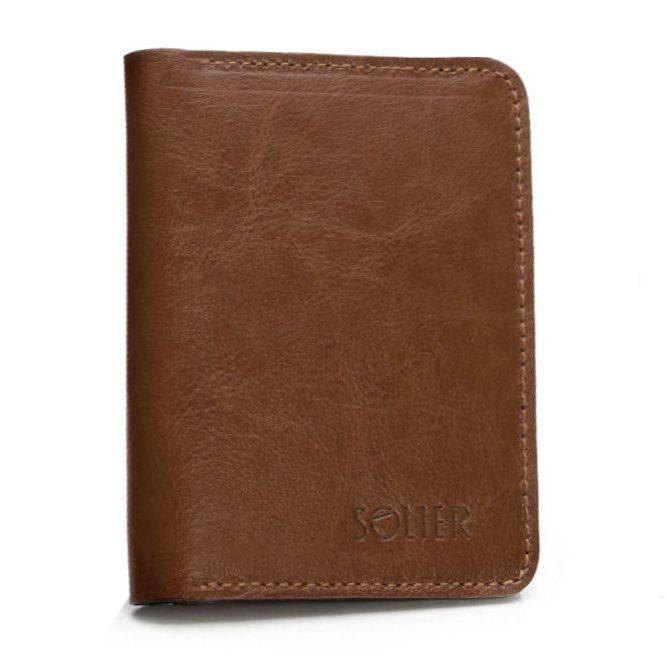 Stylová kožená pánská peněženka značky SOLIER SW10 - BROWN