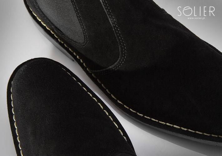 Kožená kotníková pánská obuv Chelsea shoes