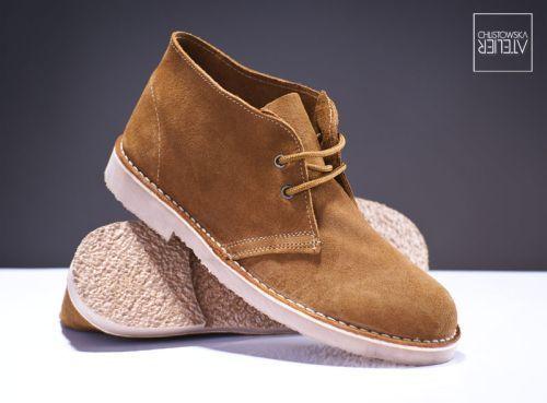 Klasické kožené pánské boty CHUKKA Desert Boots