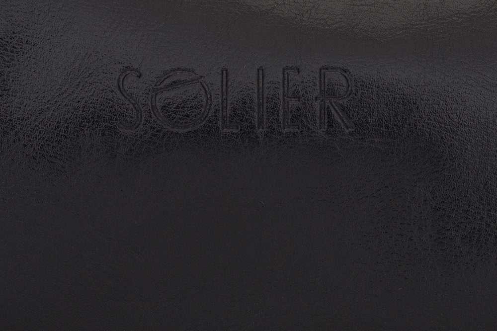 Pánská kožená univerzálni taška Solier SK02 - BLACK