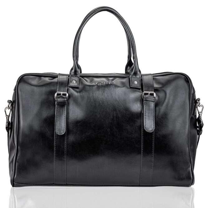 Elegantní víkendová taška SOLIER S16 - black