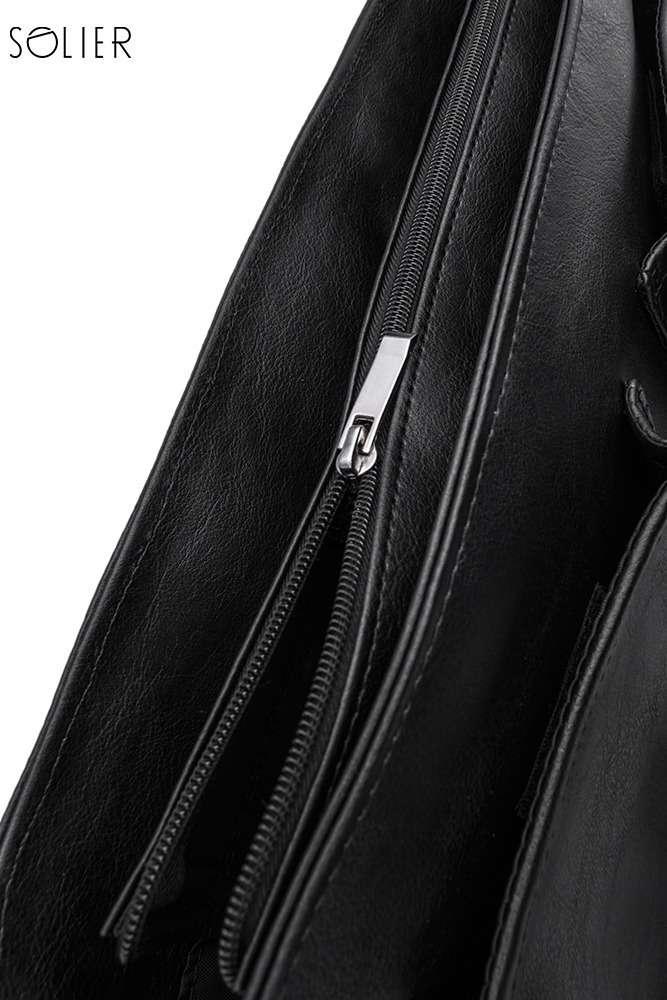 Solier pánská aktovka na notebook S14 dark brown (tmavě hnědá)