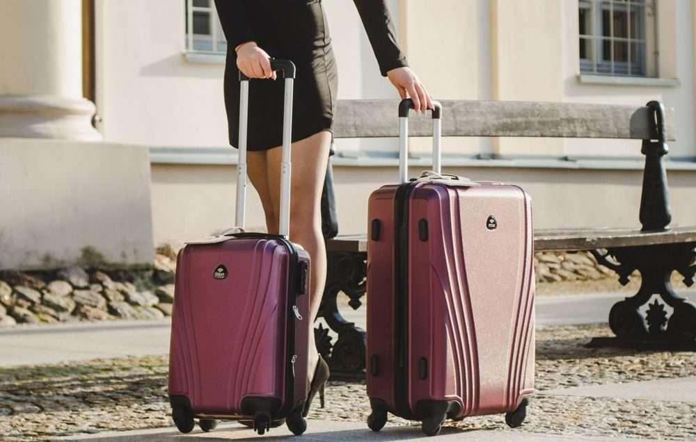 Cestovní kufr STL319 ABS BURGUNDY M