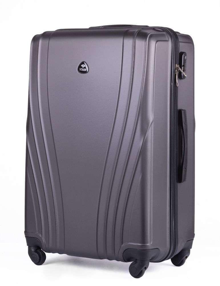 Cestovní kufr STL319 ABS DARK GREY L