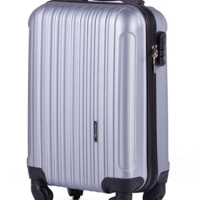 Solier cestovní kufr STL2011 ABS SILVER S