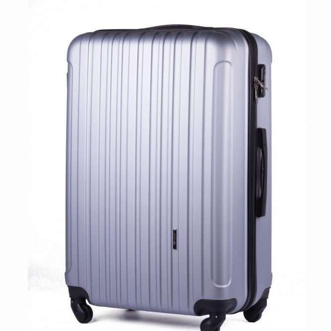Cestovní kufr STL2011 ABS SILVER M