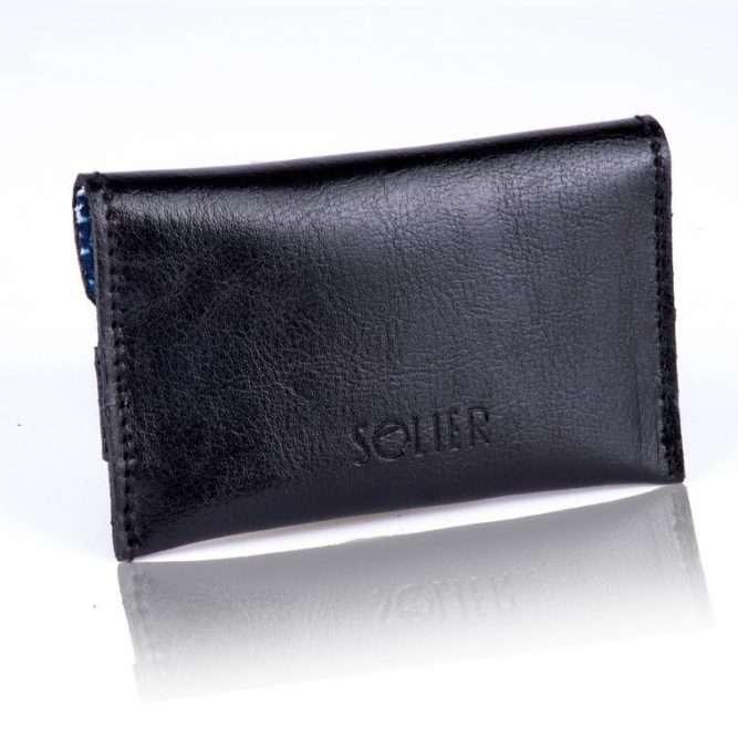Moderní kožená pánská peněženka značky SOLIER SW19 - BLACK