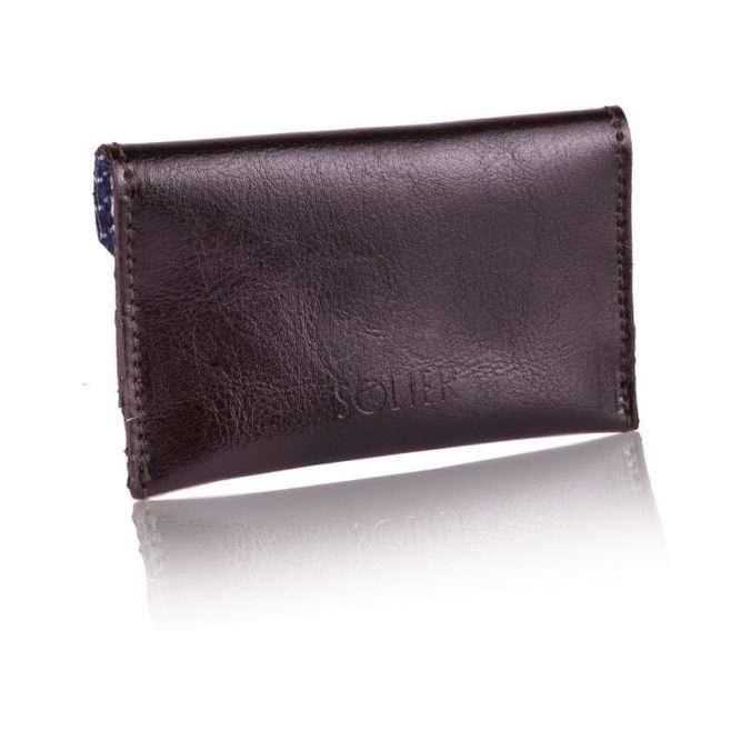 Moderní kožená pánská peněženka značky SOLIER SW19 - DARK BROWN