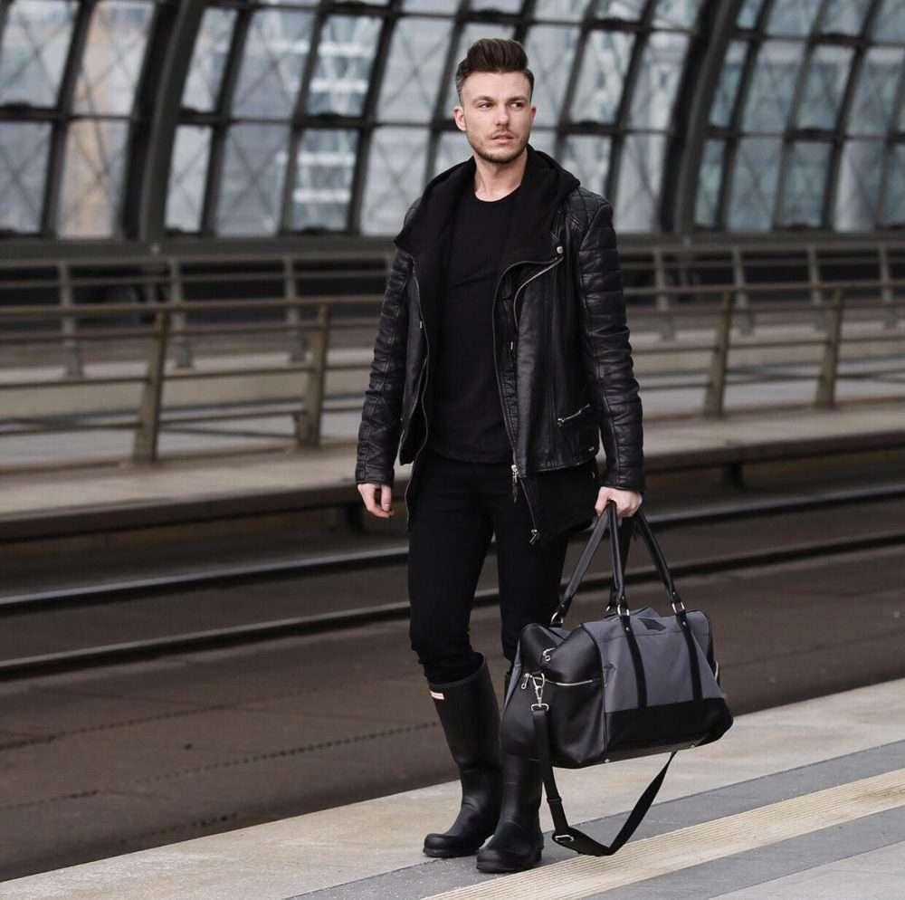 Solier pánská víkendová taška S18 tmavě hnědá