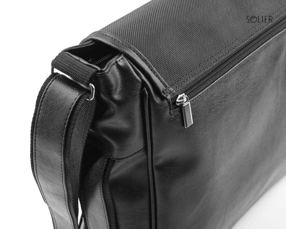Solier taška na notebook S12 black carbon (černá karbon)