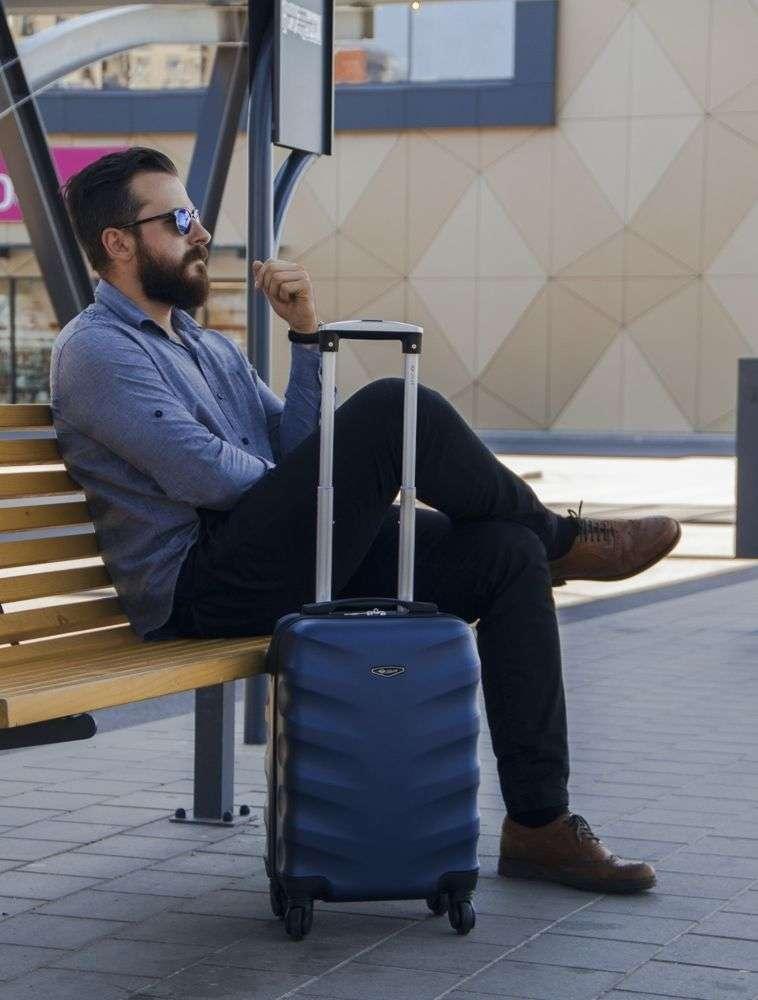 Solier cestovní kufr STL402 ABS DARK BLUE XS