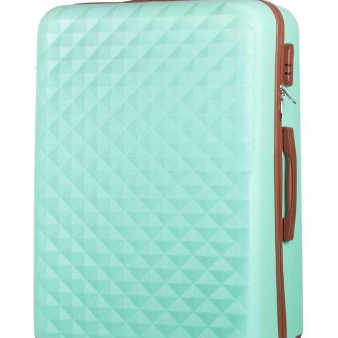 Cestovní kufr SOLIER STL190 L- LIGHT GREEN