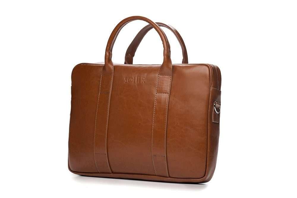 Solier kožená pánská taška SL20 brown